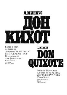 Don Quixote: For piano by Ludwig Minkus