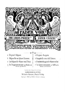 The Lords Prayer: Harp or piano part by Sextus Miskow