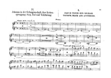 Jeanne d'Arc (Joan of Arc), Op.19: Movement IV, for piano four hands by Moritz Moszkowski