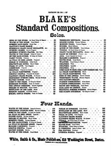 La jolie parfumeuse: Potpourri for piano four hands by Jacques Offenbach