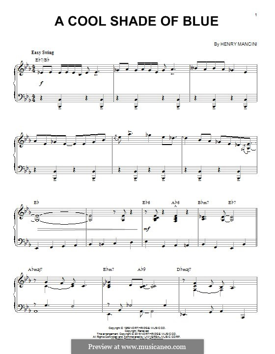 A Cool Shade of Blue: For piano by Henry Mancini