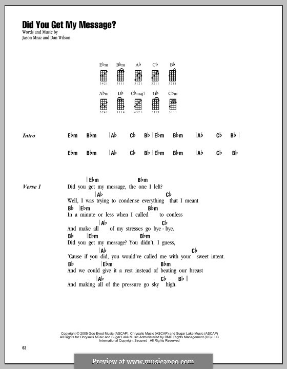 Did You Get My Message?: For ukulele by Daniel Wilson