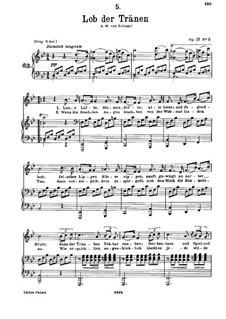 Lob der Tränen (In Praise of Tears), D.711 Op.13 No.2: For low voice and piano by Franz Schubert