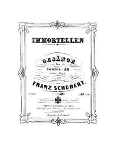 No.18 Trockne Blumen (Withered Flowers): Piano-vocal score by Franz Schubert