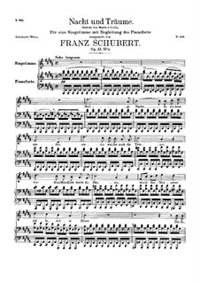 Nacht und Träume (Night and Dreams), D.827 Op.43 No.2: For high voice and piano by Franz Schubert