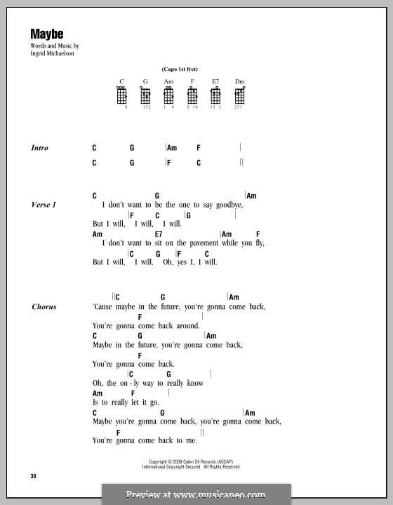 Maybe: For ukulele by Ingrid Michaelson