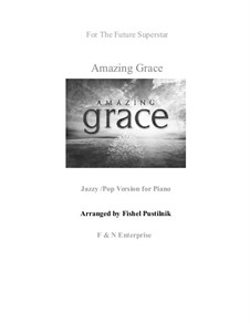 Amazing Grace, for Piano: Jazz/pop version by folklore