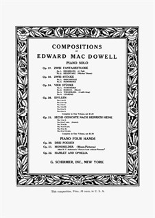 Two Fantastic Pieces , Op.17: Complete set by Edward MacDowell