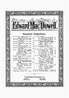 Two Pieces, Op.18: Complete set by Edward MacDowell