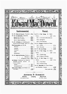 Les Orientales, Op.37: Complete set by Edward MacDowell