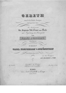 Gebet (Prayer), D.815 Op.139: Piano-vocal score by Franz Schubert