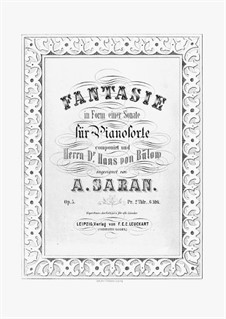 Fantasia in Sonata Form, Op.5: For piano by August Saran