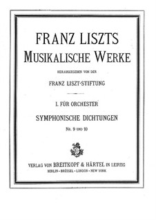 Symphonic Poem No.9 'Hungaria' for Orchestra, S.103: Full score by Franz Liszt