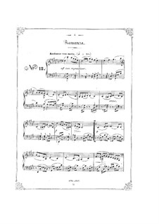 Bunte Reihe, Op.30: No.13-18 for piano by Ferdinand David
