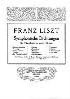 Symphonic Poem No.3 'Les préludes', for Piano, S.511a: For a single performer by Franz Liszt