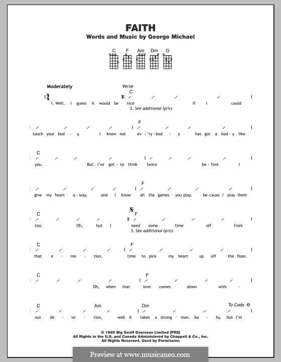 Faith: For ukulele by George Michael
