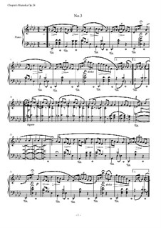 Mazurkas, Op.24: No.3 in A Flat Major by Frédéric Chopin