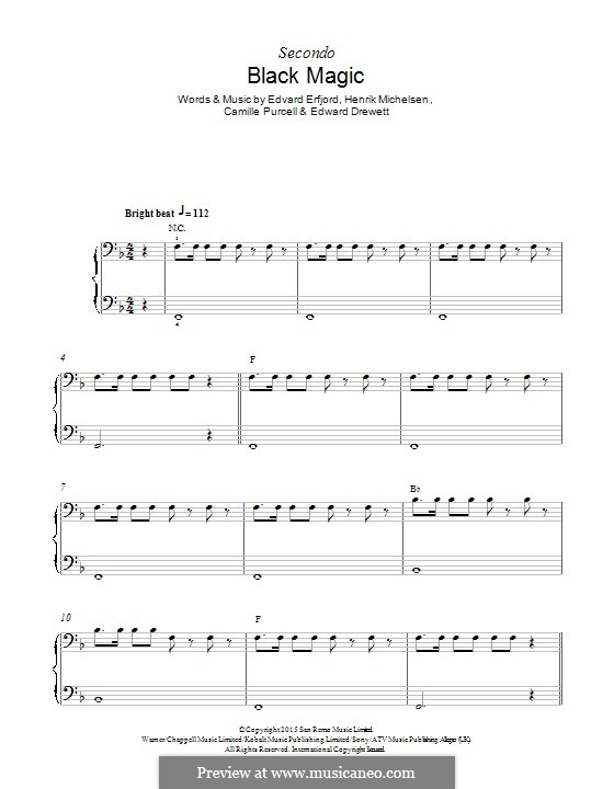 Black Magic (Little Mix): For piano by Ed Drewett, Edvard Erfjord, Henrik Michelsen, Camille Purcell