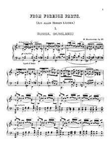 From Foreign Parts, Op.23: For piano by Moritz Moszkowski