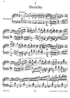 Four Polish Folk Dances, Op.55: No.1 Mazurka, for piano by Moritz Moszkowski