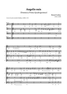 Angelis suis mandavit de te: For mixed choir by Manuel Cardoso
