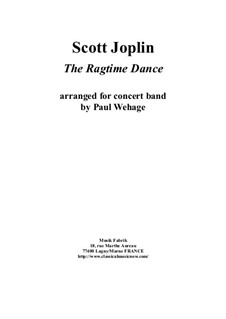 The Ragtime Dance: For concert band – score and complete parts by Scott Joplin