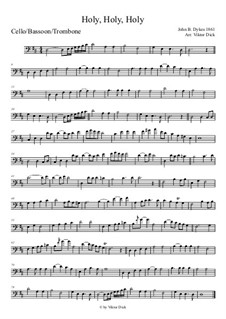 Holy, Holy, Holy! Lord God Almighty: For cello by John Bacchus Dykes