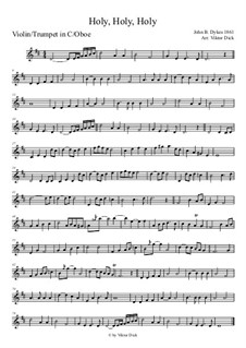 Holy, Holy, Holy! Lord God Almighty: For oboe by John Bacchus Dykes