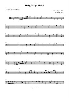 Holy, Holy, Holy! Lord God Almighty: For viola and organ by John Bacchus Dykes