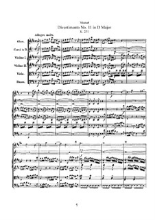 Divertissement No.11 in D Major, K.251: Full score by Wolfgang Amadeus Mozart