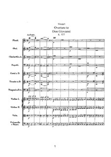 Overture: Full score by Wolfgang Amadeus Mozart