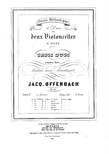 Duos for Two Cellos, Op.51: Duo No.1 – parts by Jacques Offenbach