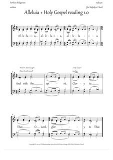 Alleluia and the Gospel singing (1.0, Dm, mix.quartet) - EN: Alleluia and the Gospel singing (1.0, Dm, mix.quartet) - EN by Rada Po