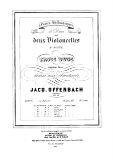 Duos for Two Cellos, Op.51: Duo No.2 – parts by Jacques Offenbach