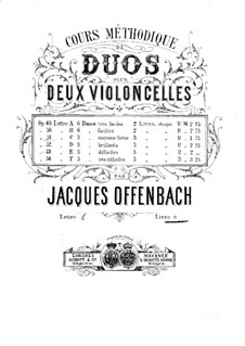 Duos for Two Cellos, Op.51: Duo No.3 – parts by Jacques Offenbach