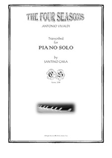 Le quattro stagioni (The Four Seasons): For piano by Antonio Vivaldi