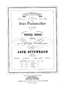 Duos for Two Cellos, Op.53: Duo No.2 – parts by Jacques Offenbach