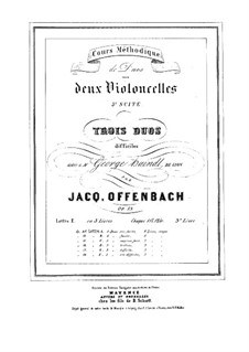 Duos for Two Cellos, Op.53: Duo No.3 – parts by Jacques Offenbach