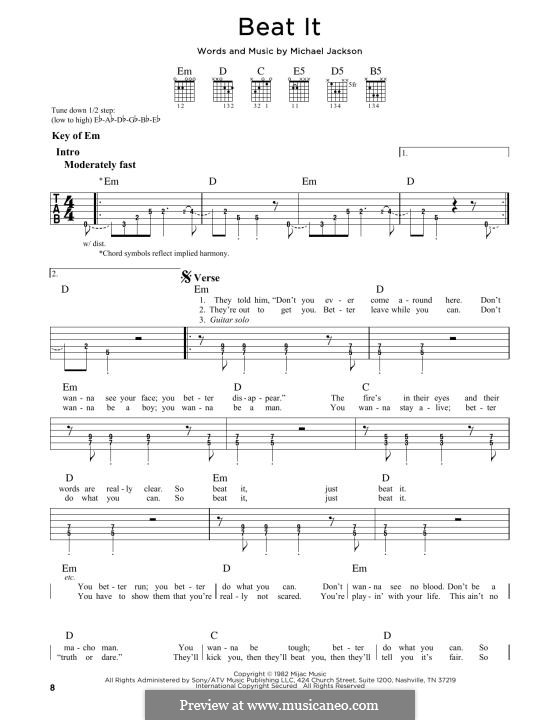 Beat It: For guitar by Michael Jackson