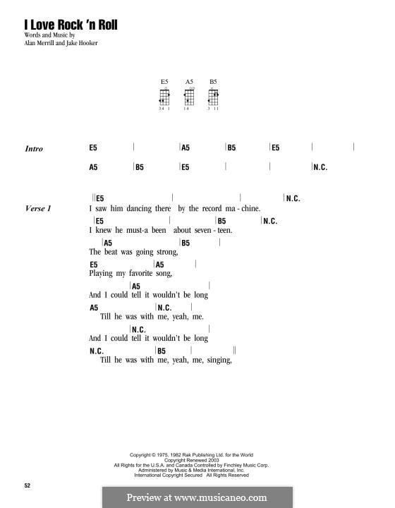 I Love Rock 'n Roll: For ukulele by Alan Merrill, Jake Hooker