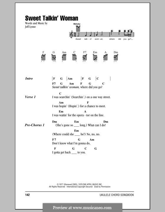 Sweet Talkin' Woman (Electric Light Orchestra): For ukulele by Jeff Lynne