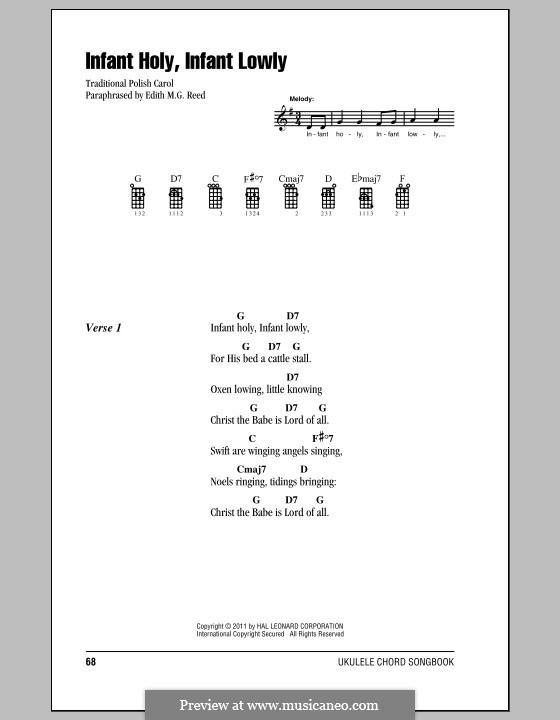 Infant Holy, Infant Lowly: For ukulele by folklore