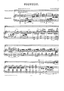 Concerto for Violin and Orchestra No.1, Op.161: Version for violin and piano by Joseph Joachim Raff