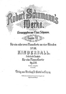 Children's Ball, Op.130: Parts by Robert Schumann
