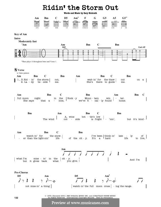 Ridin' the Storm Out (REO Speedwagon): For guitar by Gary Richrath