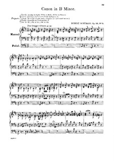 Studies in the Form of Canons, Op.56: No.5 in B Minor by Robert Schumann