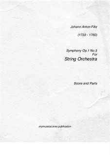 Symphony in F Major, Op.1 No.5: Symphony in F Major by Antonio Filtz