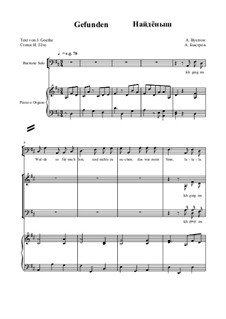Gefunden: For mixed choir and piano (or organ) by Alexander Bystrov