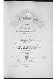 No.4 Erstarrung (Numbness): Arrangement for piano, S.561 No.5 by Franz Schubert