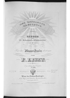 Songs No.24, 19: Arrangement for piano, S.561 No.8-9 by Franz Schubert